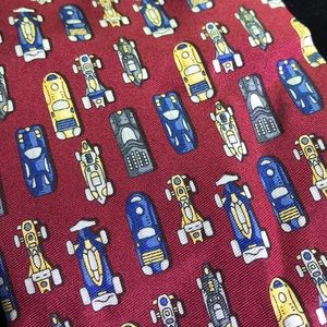 Beaufort be Rack Italy retro cars 100% silk tie